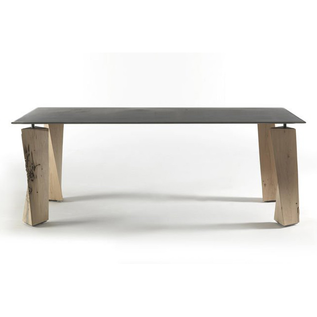 Oak dining table from Riva 1920, designed by Pierluigi Cerri