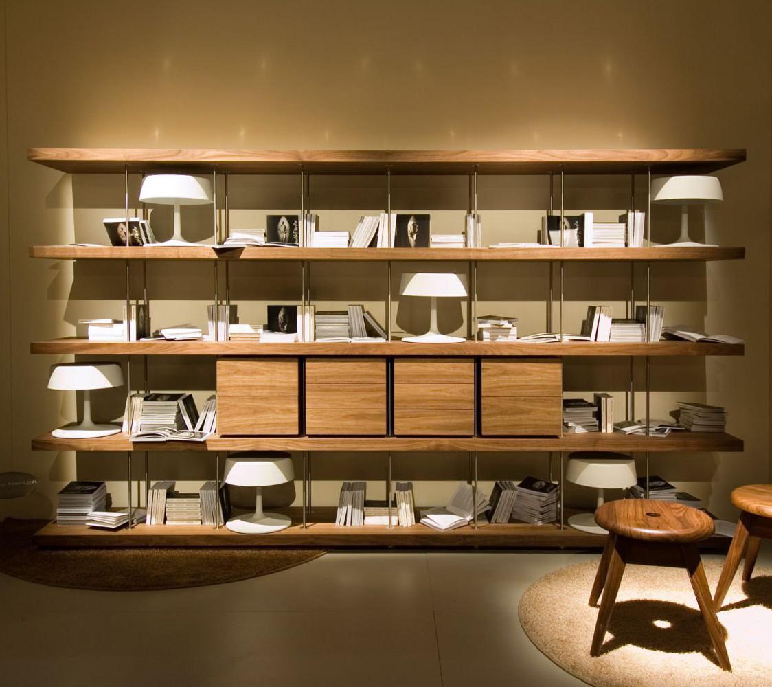 Piano design bookcase from Riva 1920, designed by Renzo and Matteo Piano