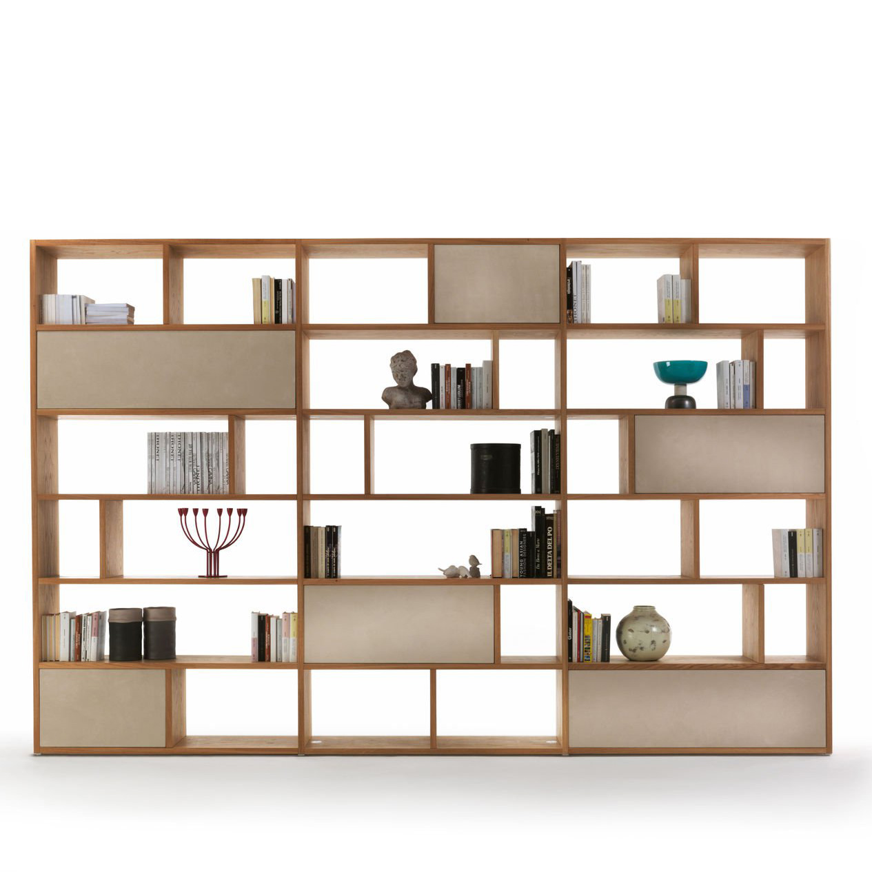 Riva 1920 Password Bookcase Wooden Living Room