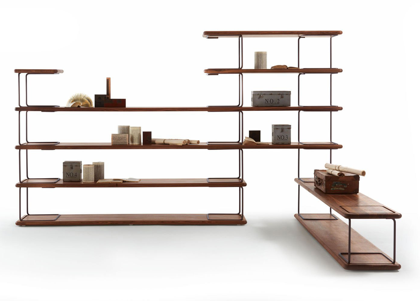 Tubular bookcase from Riva 1920, designed by Jamie Durie