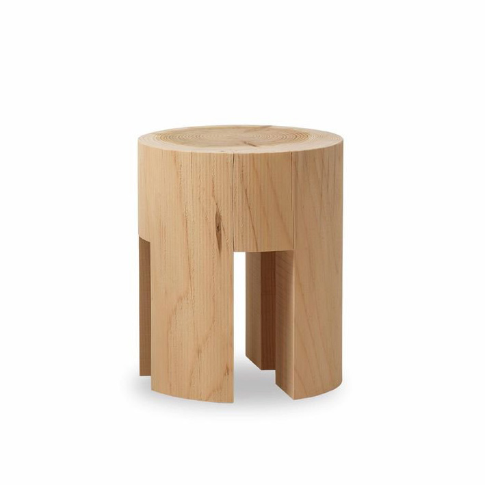 Woody stool from Riva 1920, designed by Matteo Thun
