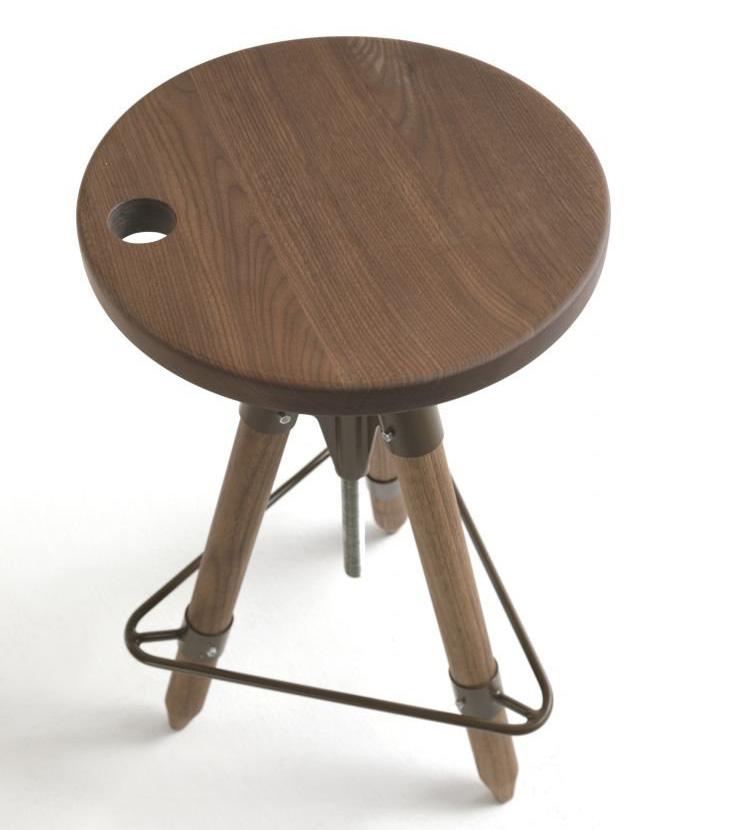 Ello stool from Riva 1920, designed by Franco & Matteo Origoni