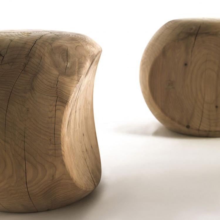 Amedea stool from Riva 1920, designed by Benno Vinatzer