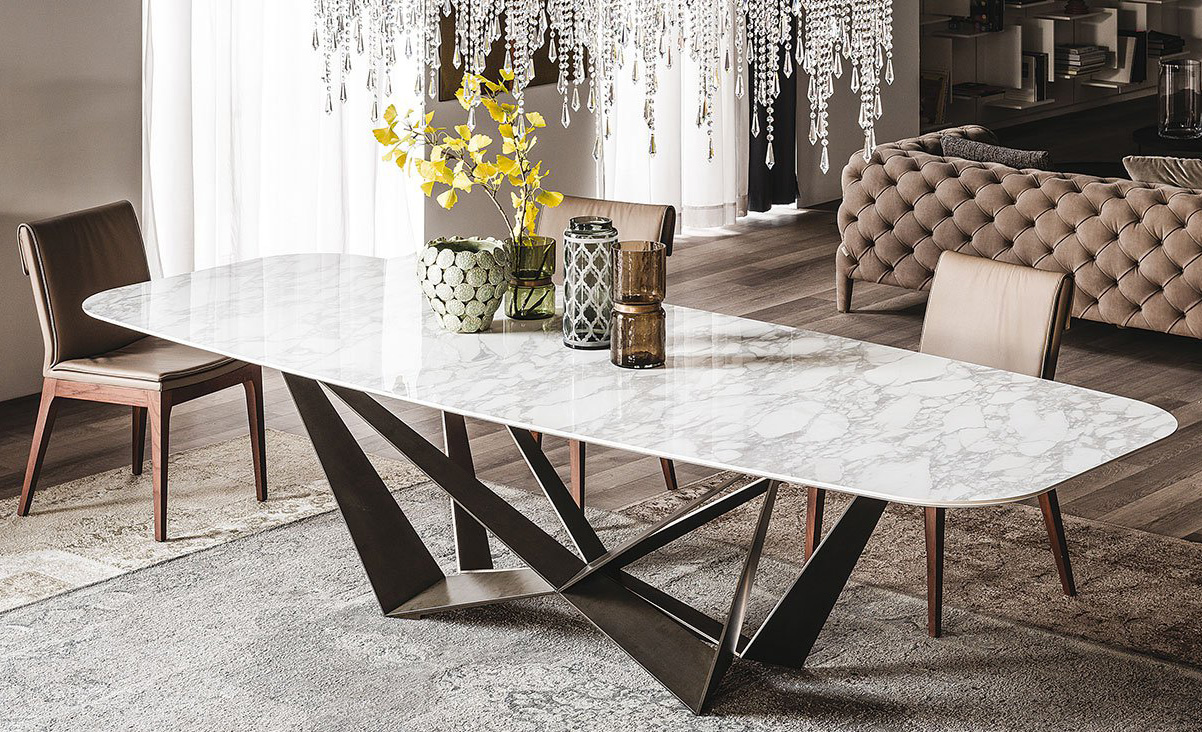 Cattelan Italia Skorpio Keramik Dining Table Metal Dining ...