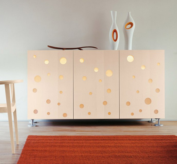 Polka Dot cabinet from Horm, designed by Toyo Ito