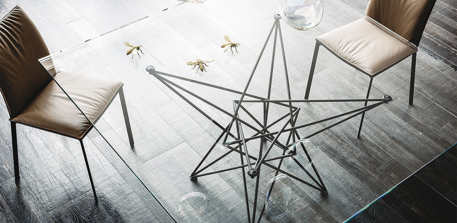 Gordon Glass Dining Table from Cattelan Italia