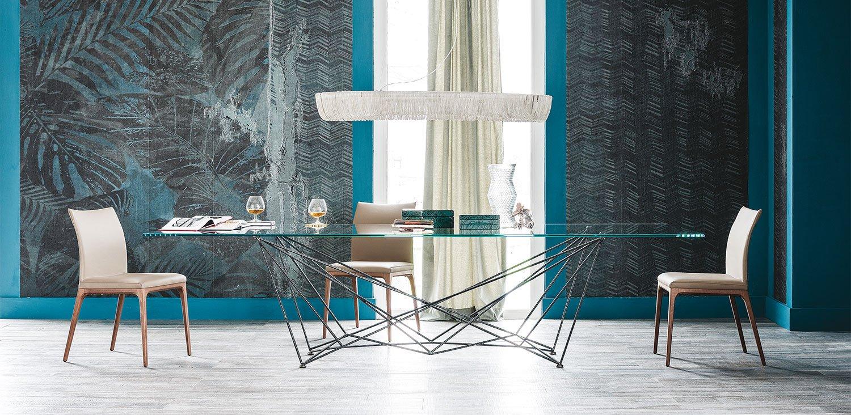 Gordon Glass Dining Table from Cattelan Italia