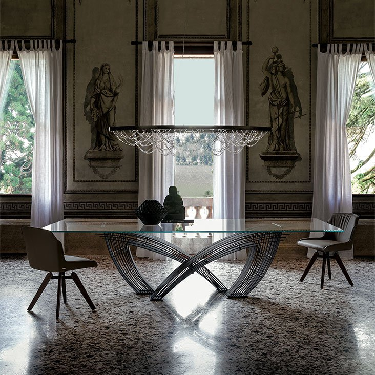 Hystrix Glass Dining Table from Cattelan Italia