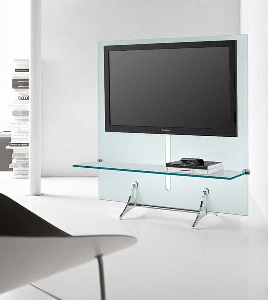 Curtain Wall TV unit from Tonelli