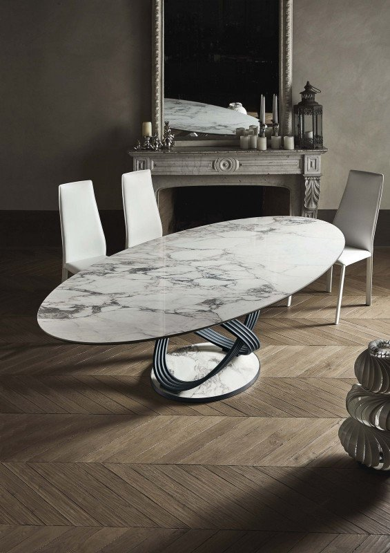 Fusion dining table from Bontempi