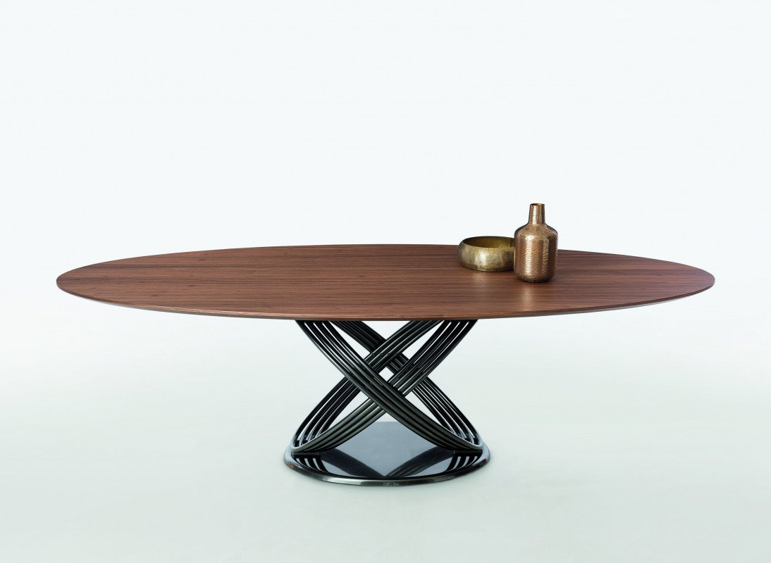 Fusion, dining table from Bontempi