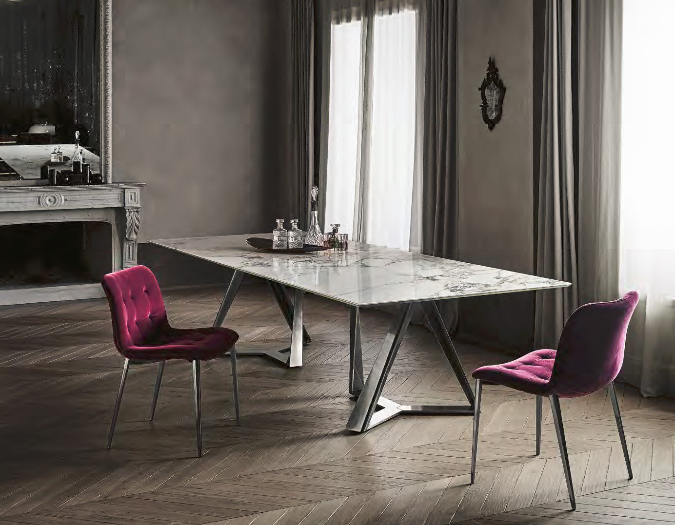 Millennium XXL dining table from Bontempi