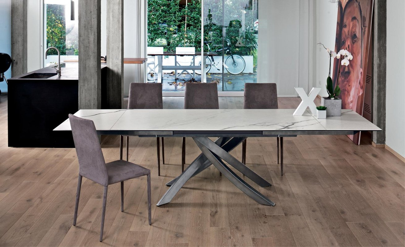 Artistico Ex, dining table from Bontempi