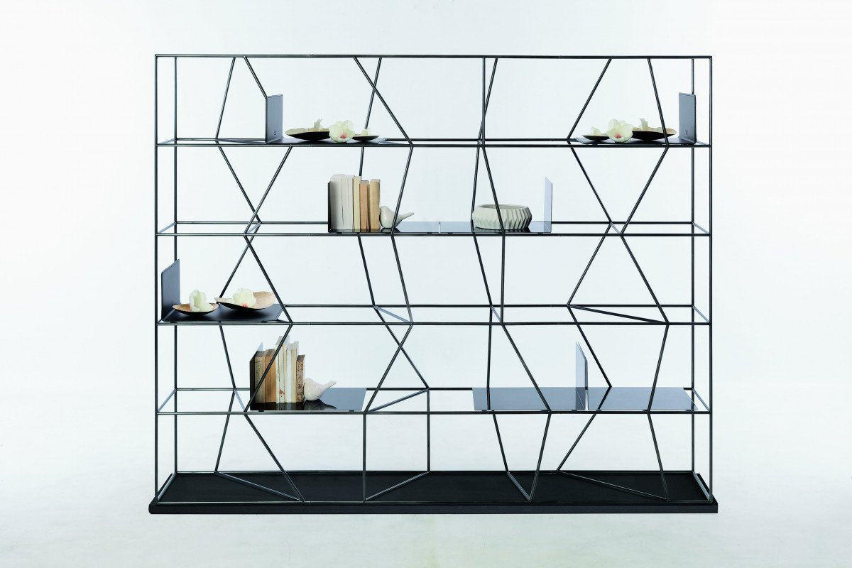 Bontempi Lexington Ex Metal Bookcase Contemporary Living