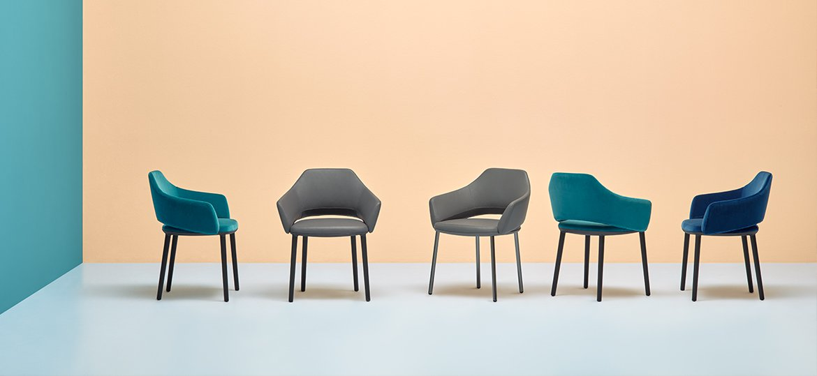 Vic Metal 646 chair from Pedrali, designed by Patrick Norguet
