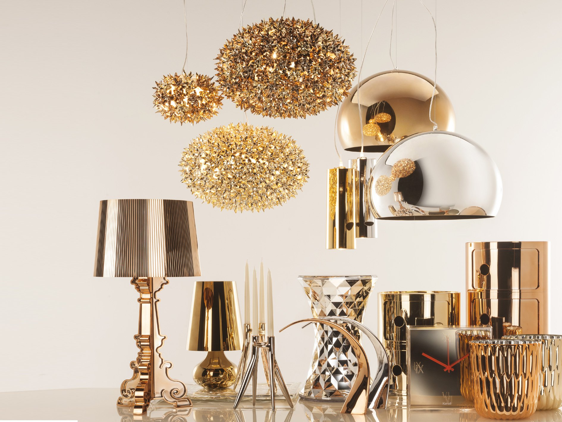 Bourgie lighting from Kartell, designed by Ferruccio Laviani