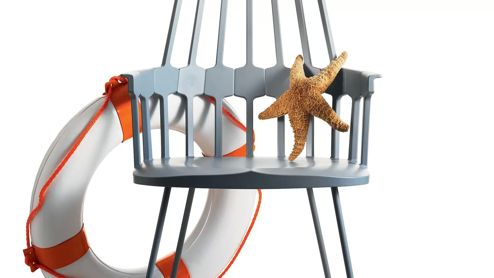 Comback Sled chair from Kartell, designed by Patricia Urquiola