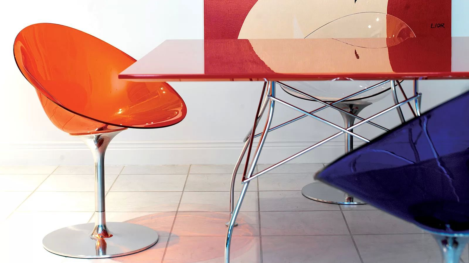 Ero |S| Swivel chair from Kartell, designed by Philippe Starck