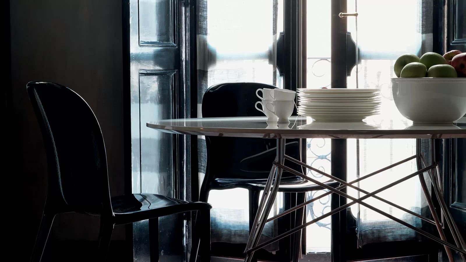 Kartell Glossy Table Metal Dining Contemporary Dining