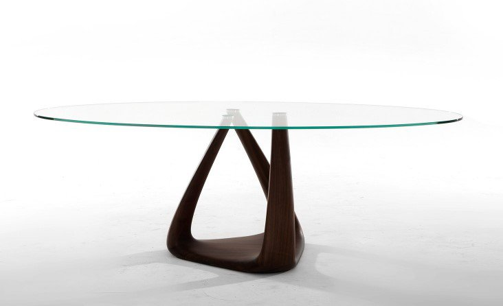 Rizoma Glass and Wood Dining Table from Tonin Casa