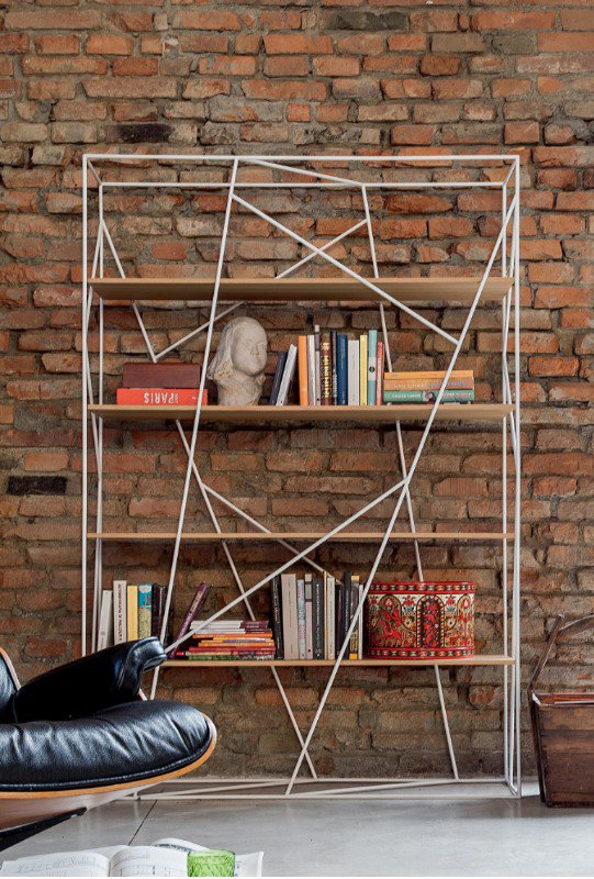 Naviglio Metal and Wood Bbookcase from Tonin Casa