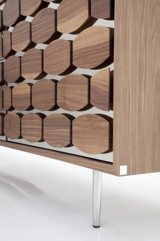 Honey 6111 Wood and Mirror Cabinet from Tonin Casa