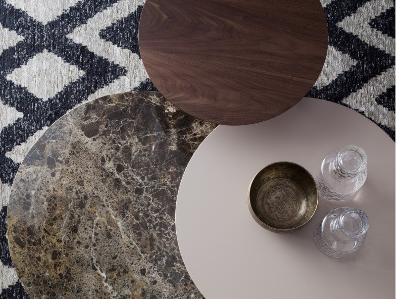 Log Wood Marble Coffee Table from Tonin Casa