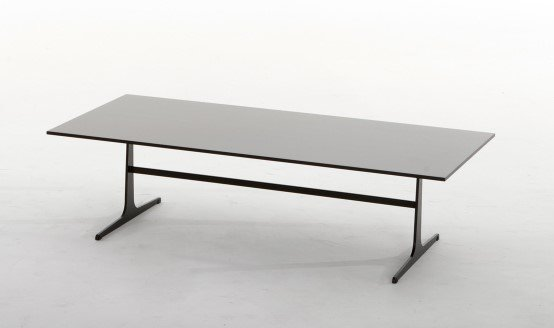 Empire Wood and Metal Coffee Table from Tonin Casa