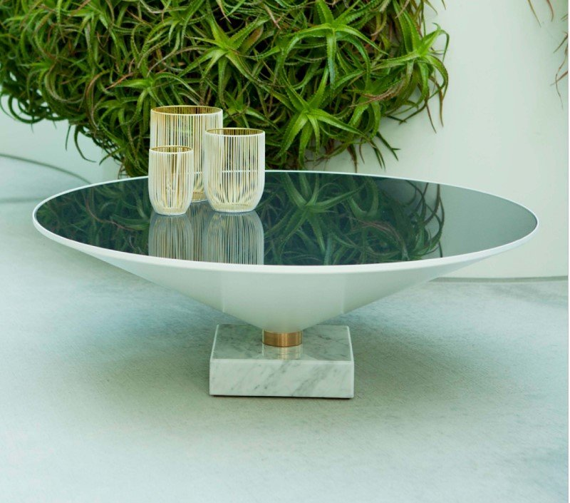 Flute Glass Coffee Table  from Tonin Casa