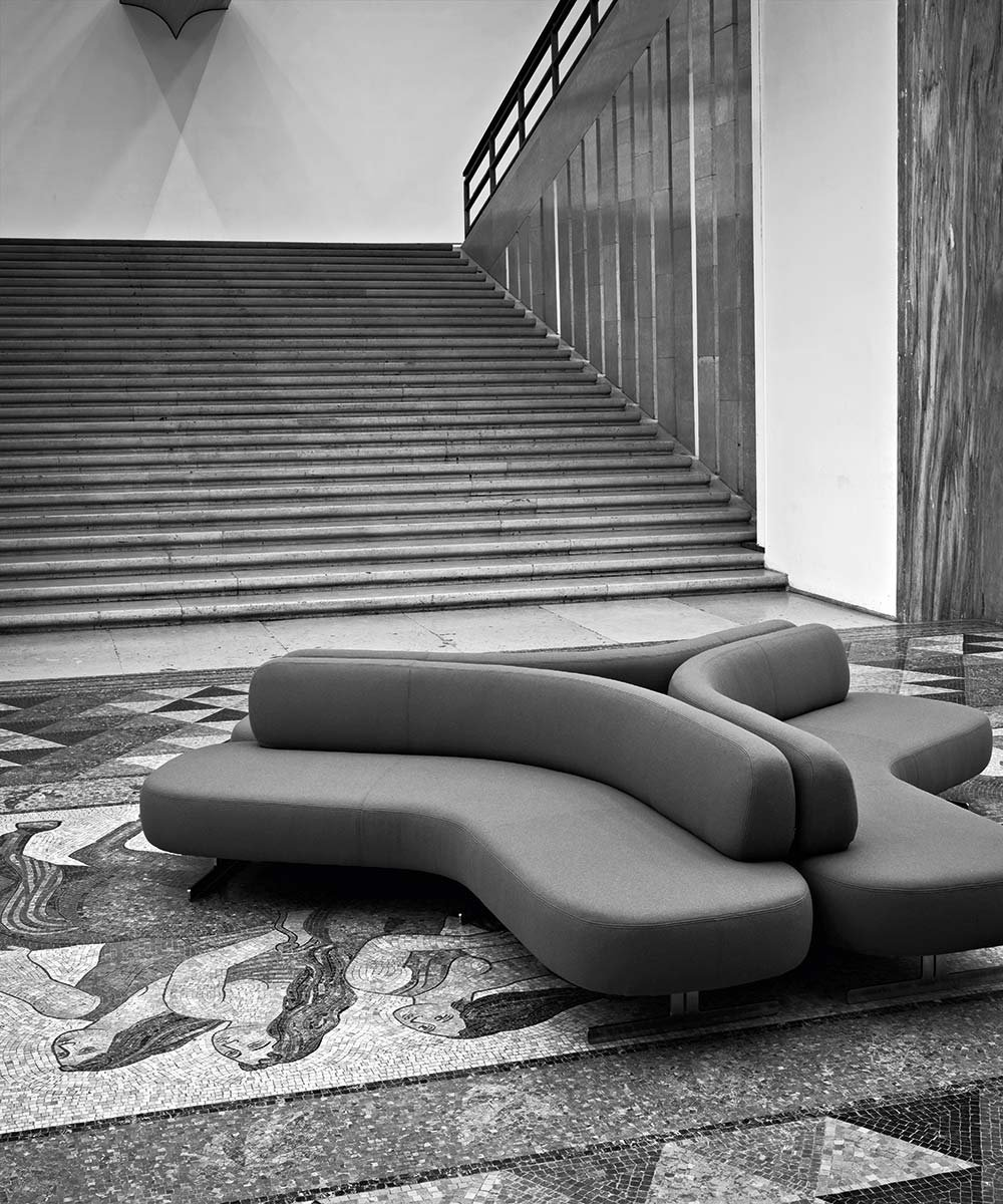 Stone Sofa from Tacchini, designed by PearsonLloyd