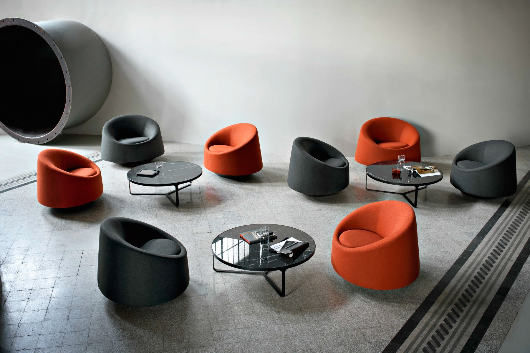 Crystal Armchair lounge from Tacchini
