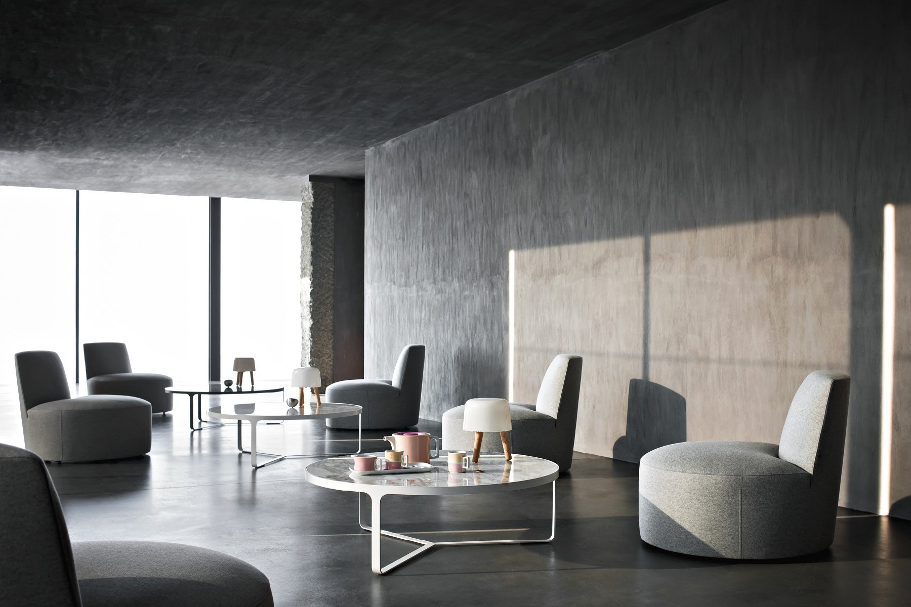 Baobab Chair lounge from Tacchini, designed by Lievore Altherr Molina