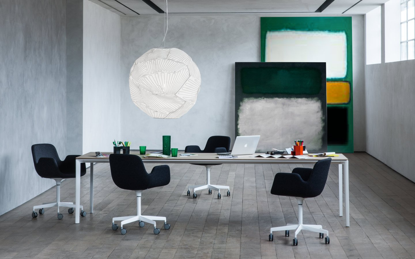 Add T Table computer desk from lapalma, designed by Francesco Rota
