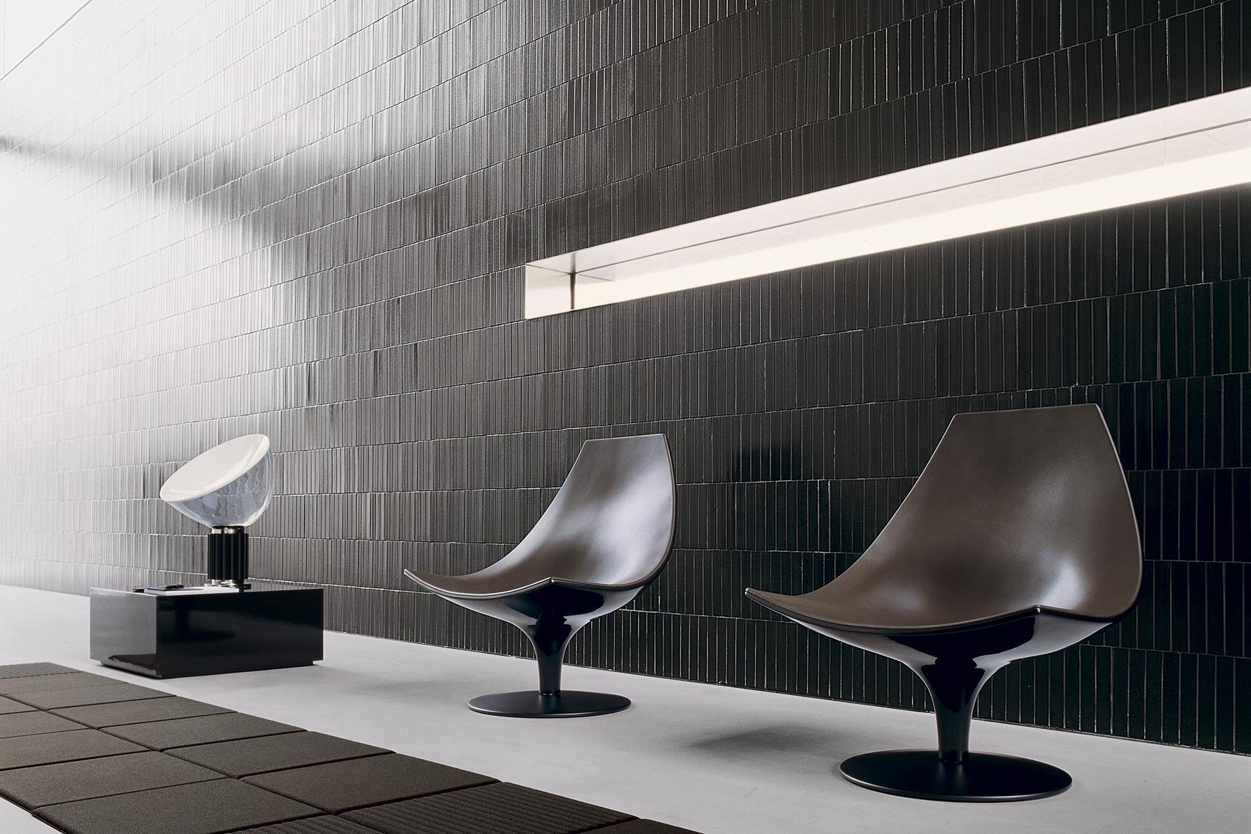 Moon Leather Chair lounge from Tacchini