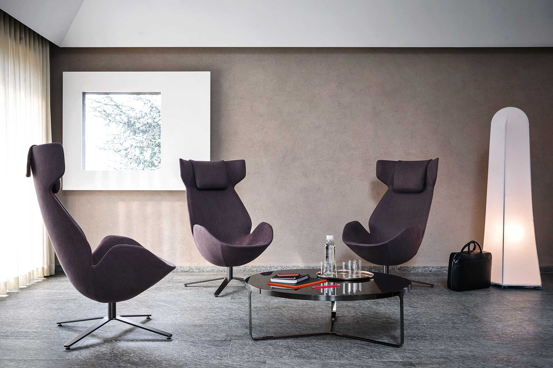 Shelter Armchair lounge from Tacchini, designed by Noé Duchaufour-Lawrance