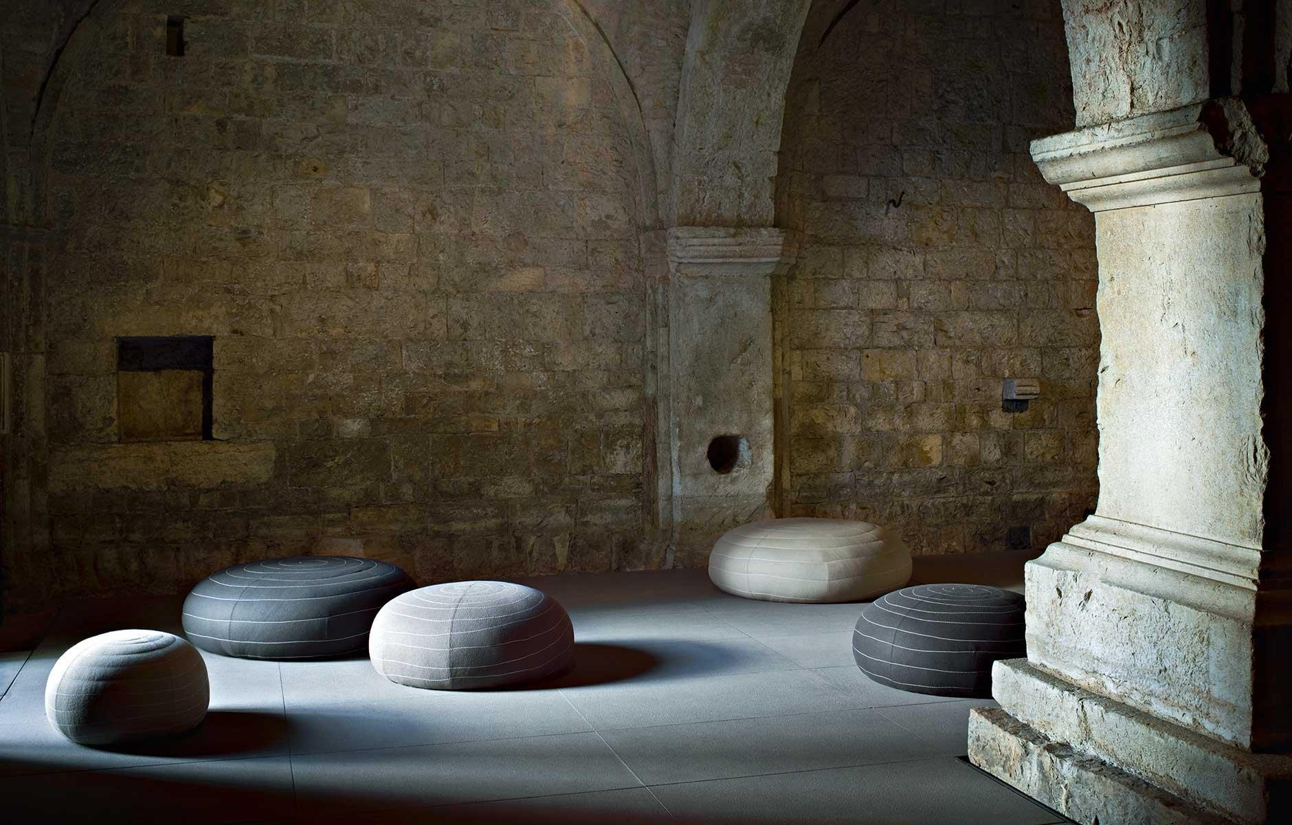 Spin Ottoman from Tacchini, designed by Claesson Koivisto Rune