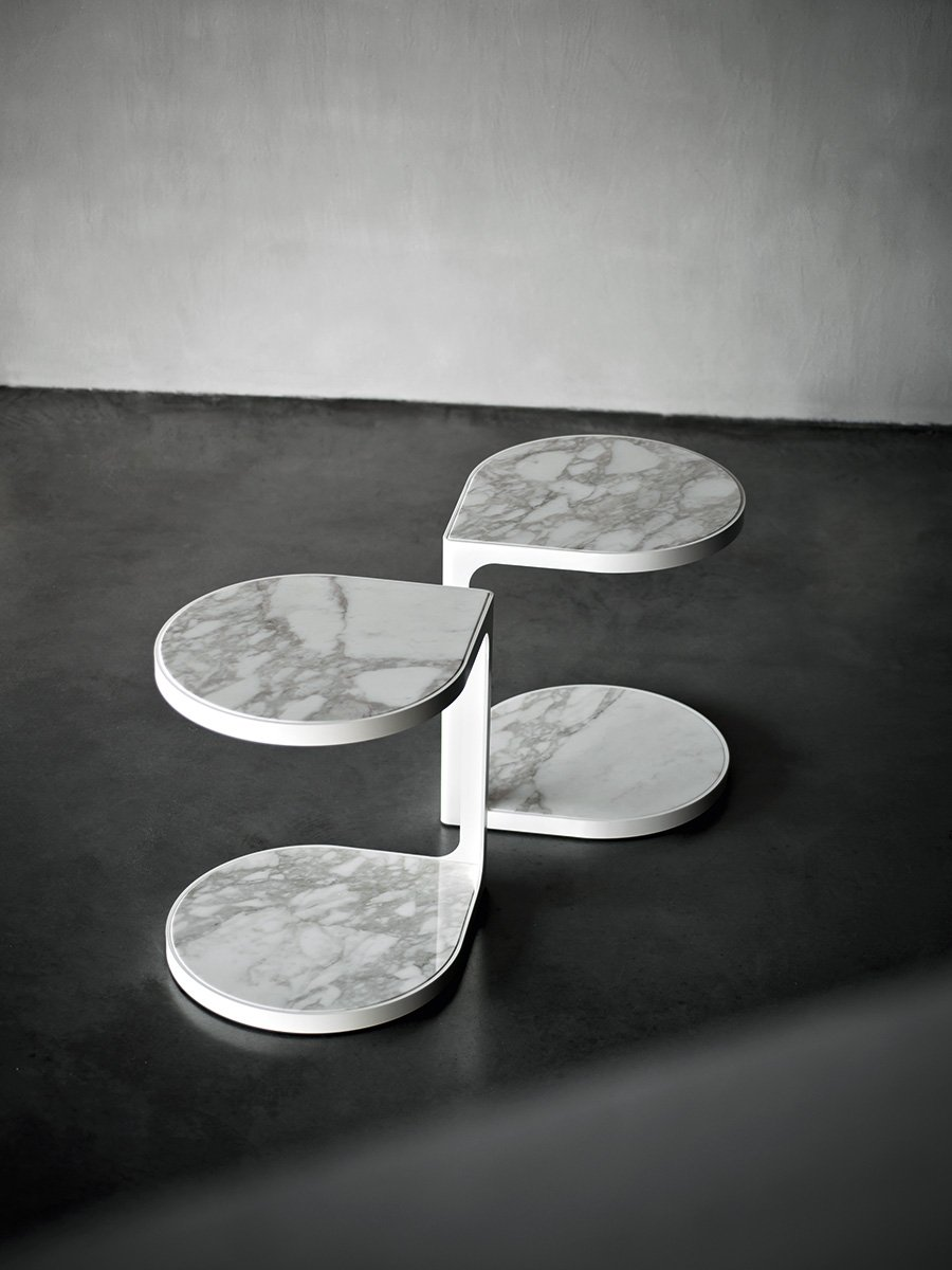 Coot Marble Coffee Table from Tacchini, designed by Gordon Guillaumier