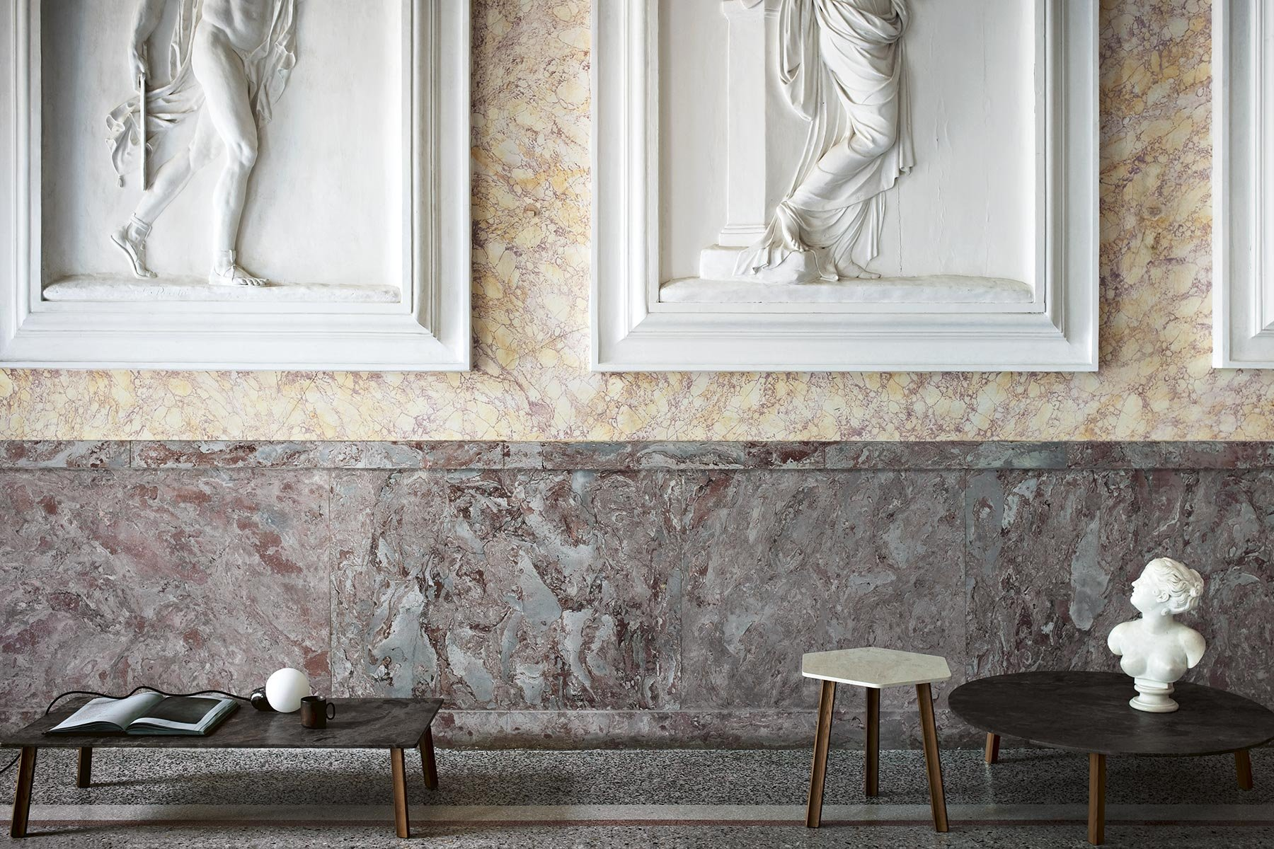 Ruler Marble Coffee Table from Tacchini