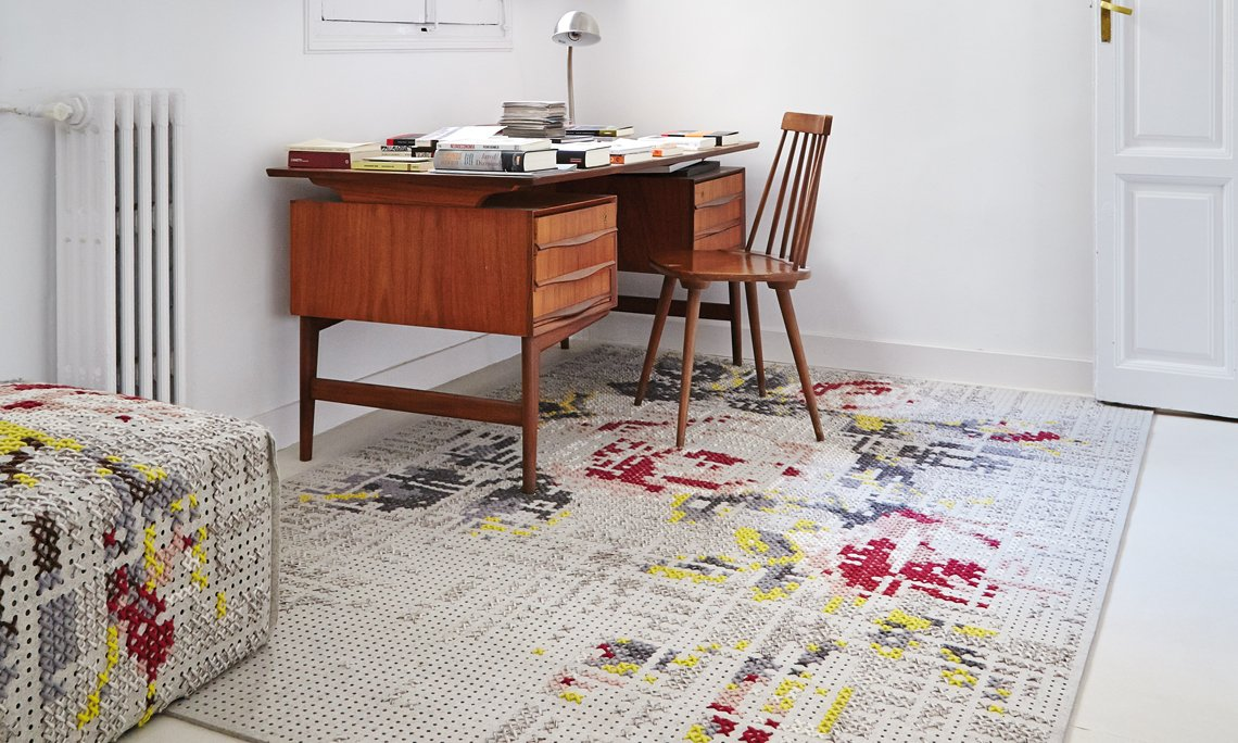 Canevas Rugs from Gan Rugs, designed by Charlotte Lancelot