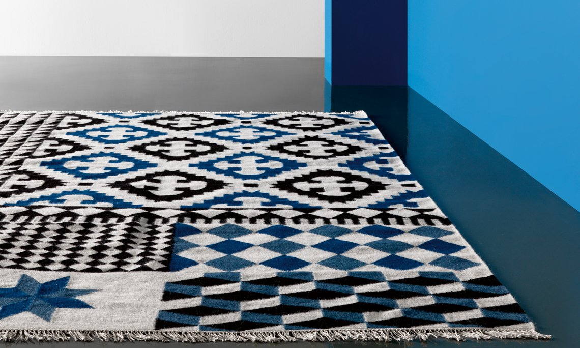 Kilim Palermo Rugs from Gan Rugs, designed by Sandra Figuerola