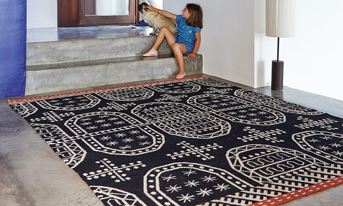 Kilim Tasili Rugs from Gan Rugs, designed by Sandra Figuerola