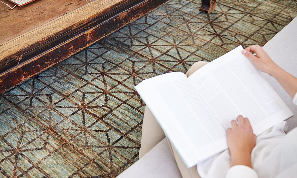 Hand Knotted Waterkeyn Rugs from Gan Rugs, designed by GAN Studio