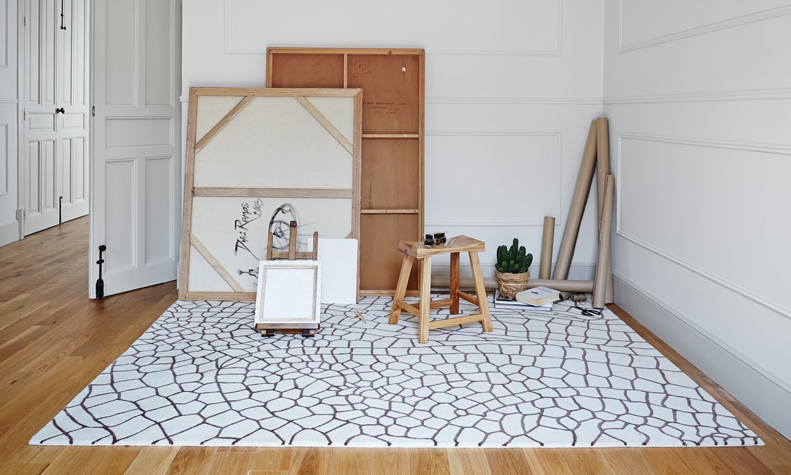 Hand Knotted Dragonfly Rugs from Gan Rugs, designed by Nendo