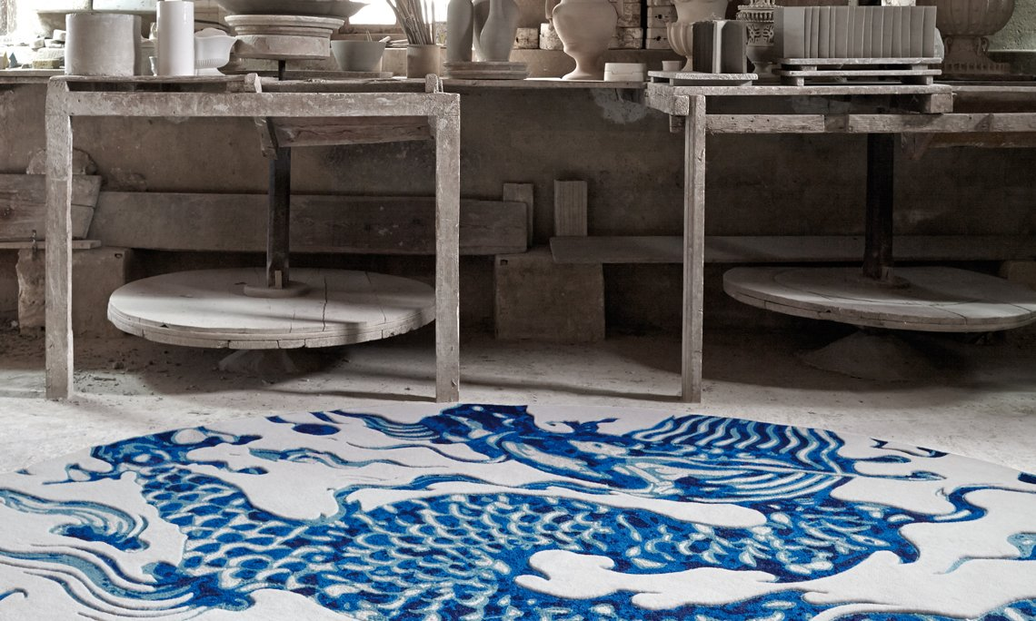 Cadeneta Blue China Rugs from Gan Rugs