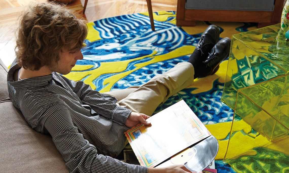 Cadeneta Blue China Rugs from Gan Rugs, designed by Mapi Millet