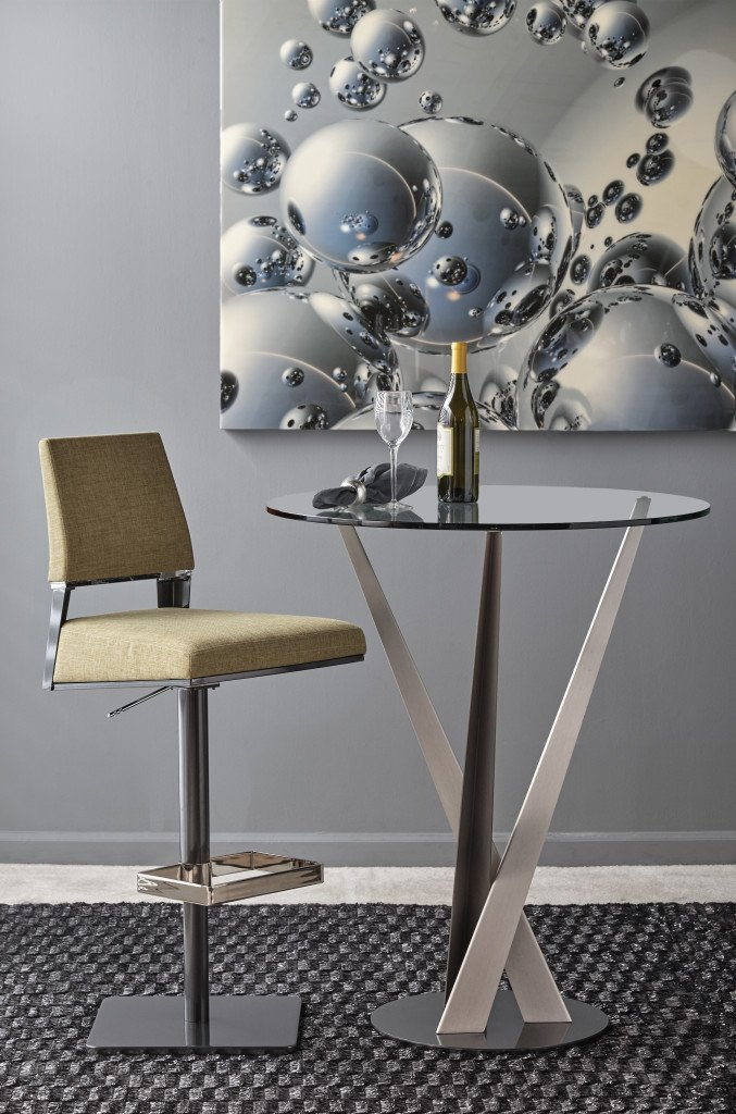 Crystal Pub Table bar from Elite Modern, designed by Carl Muller