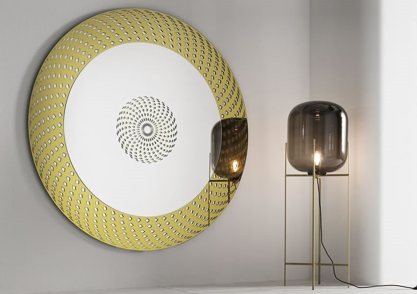City Life Mirrors from Tonelli, designed by Francesca Arrighi