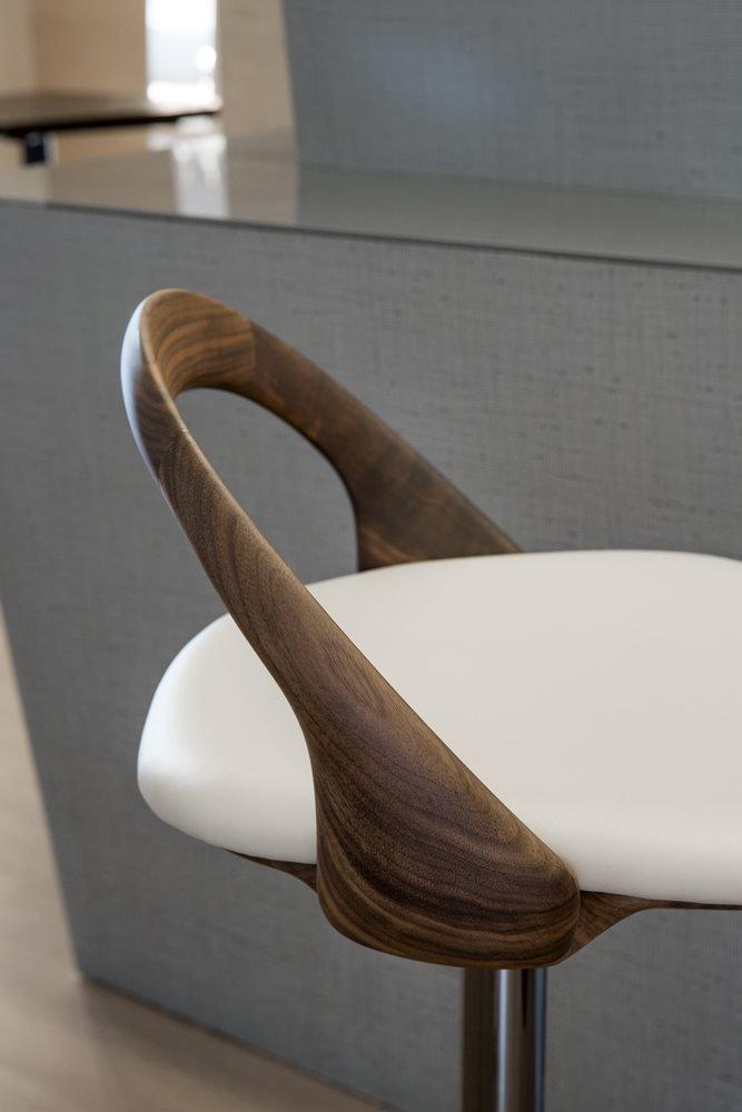 Porada Ester Sgabello Stool Fabric Stool Contemporary