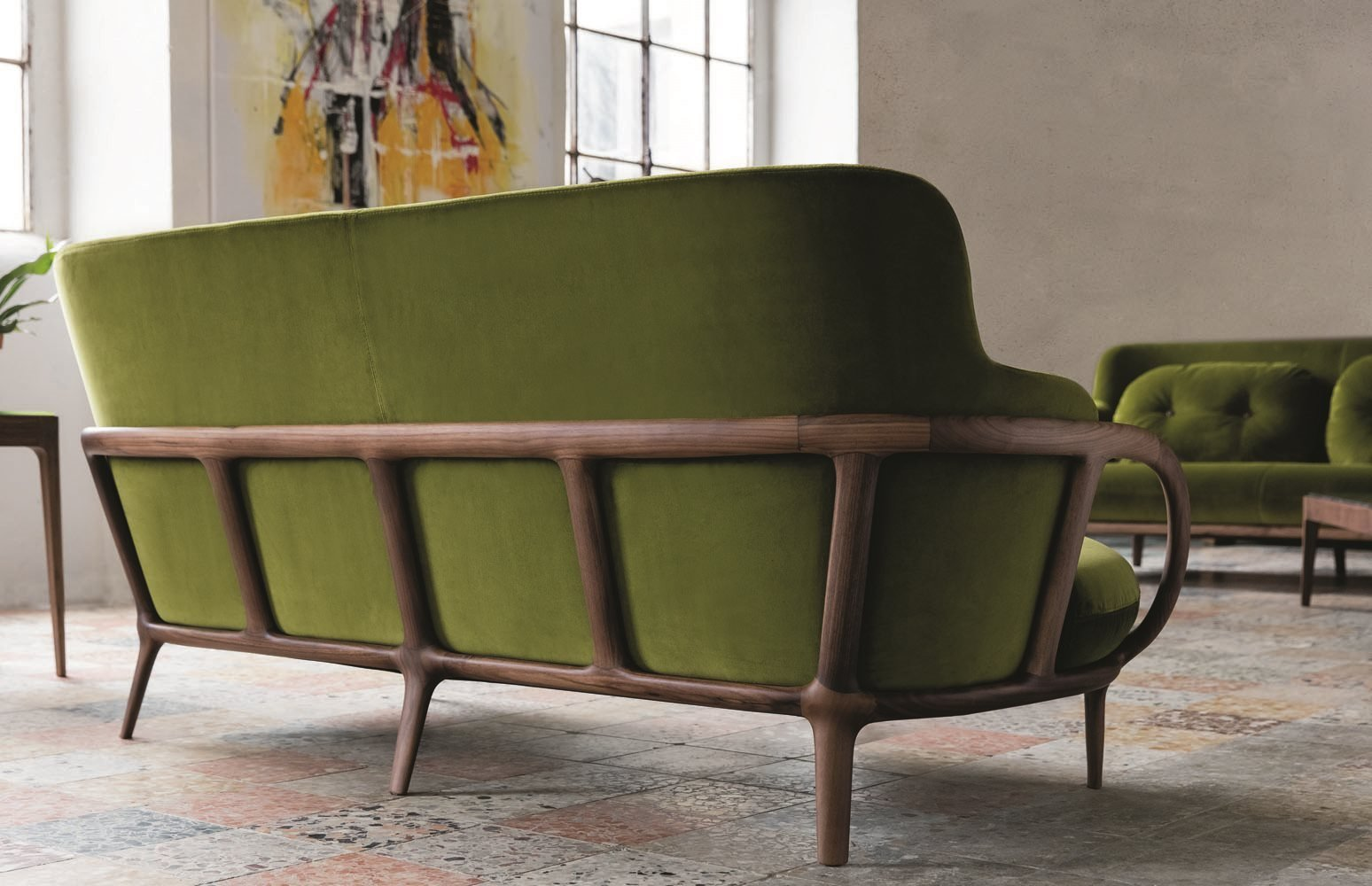 Allison Sofa Chair from Porada, designed by A. Borgogni