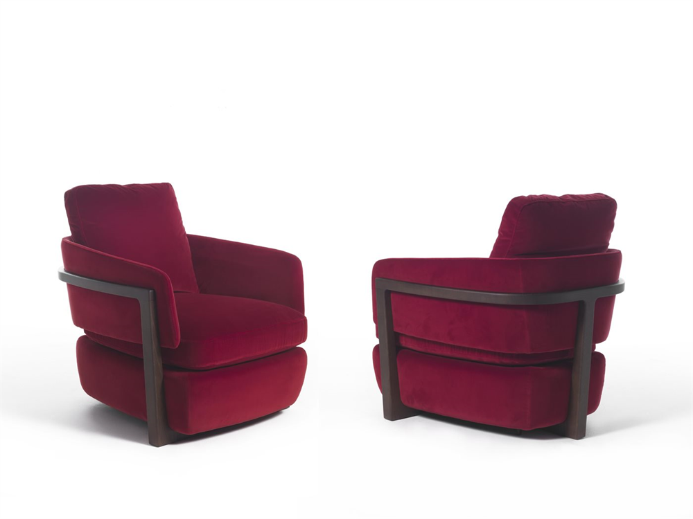 Arena Armchair lounge from Porada, designed by E. Gallina